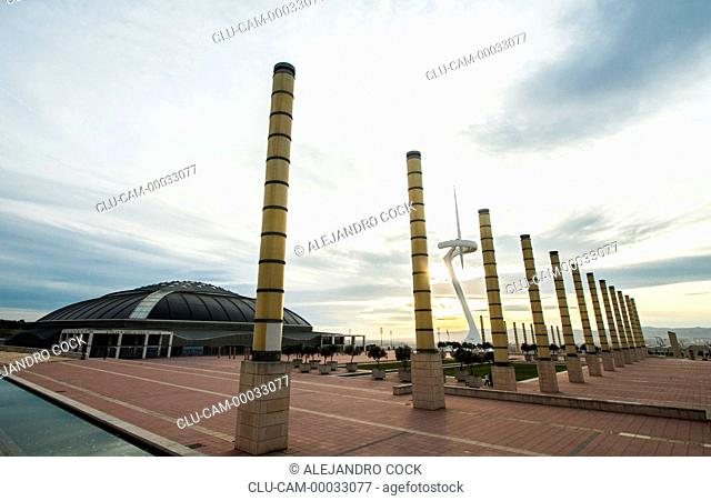 Tower of Communications, Montjuic, Barcelona, Catalonia, Spain, Europe
