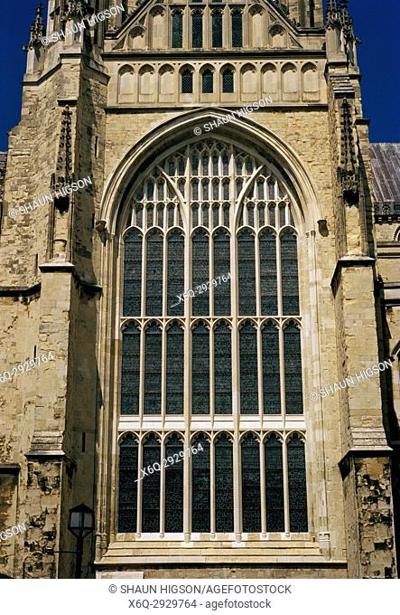 Great South Window at Canterbury Cathedral in City of Canterbury in Kent in England in Great Britain in the United Kingdom UK Europe