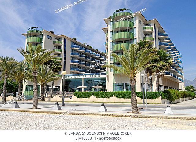 Hotel Cactus, beach promenade, Albir, Altea, Costa Blanca, Alicante, Spain, Europe