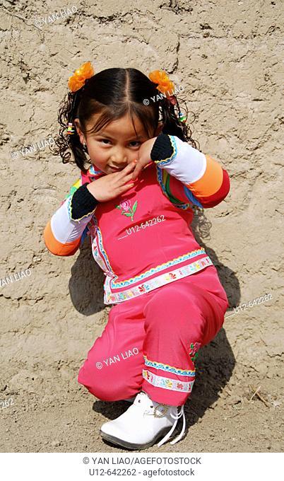 Chinese girl. Qinghai. Huzhu. China