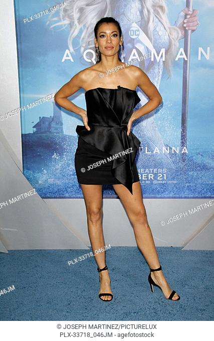 """Stephanie Sigman at the Premiere of Warner Bros' """"""""Aquaman"""""""" held at the TCL Chinese Theatre in Hollywood, CA, December 12, 2018"""
