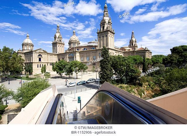MNAC, former Palau Nacional, Museu Nacional d'Art de Catalunya, National Art Museum of Catalunya, Barcelona, Catalonia, Spain, Europe