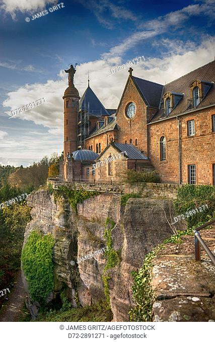 Mont Sainte Odile, Alsace, France convent on top of hill