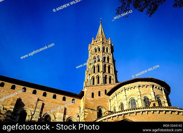 The Basilique Saint-Sernin de Toulouse, (Basilica of Saint-Sernin) Toulouse, France