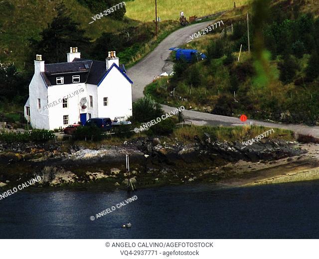 Scotland, Scottish Highlands, Druim Sgurr nan Cabar Loch Duich near Shiel Bridge, Great Britain
