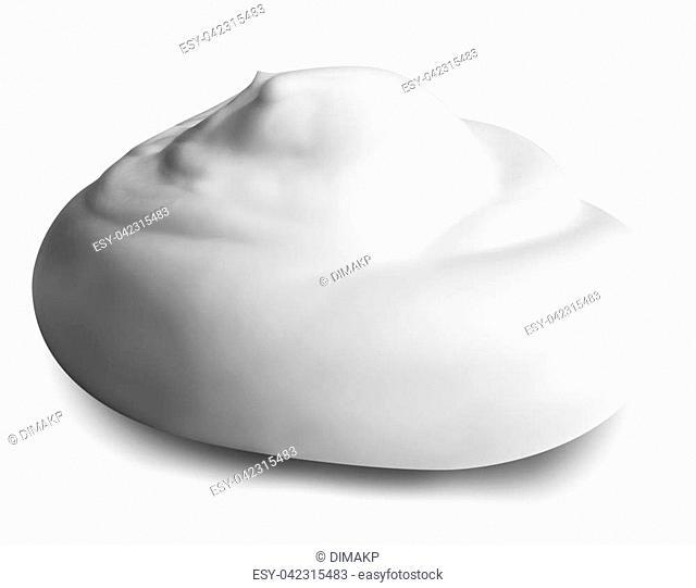 white foam isolated on white background