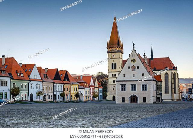 Bardejov Square,Town hall, Basilica of St. Egidius, Slovakia, UNESCO