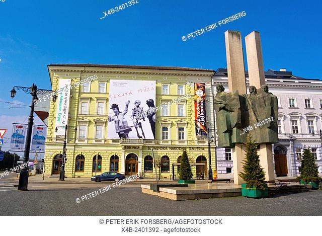Namestie Stura, with Esterhazy palace, housing National Gallery art gallery, old town, Bratislava, Slovakia, Europe