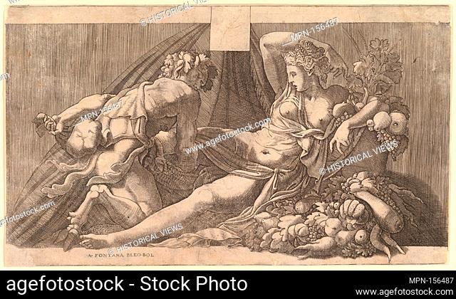 Jupiter and Antiope. Artist: Attributed to Master FG (Italian, active mid-16th century); Artist: After Francesco Primaticcio (Italian