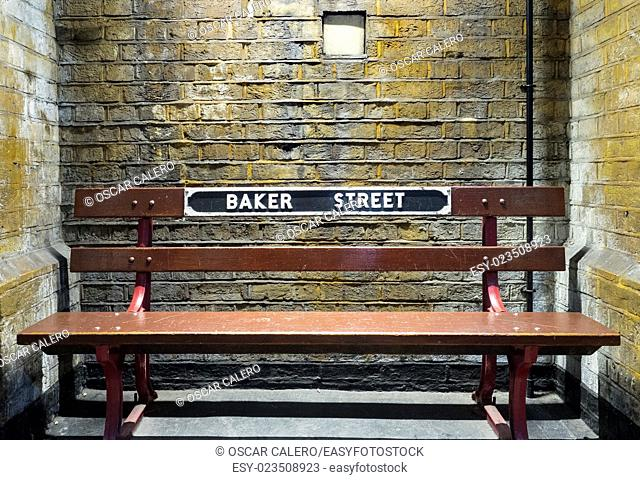 Bench at Baker Street tube station