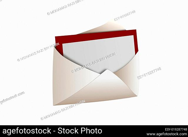 envelope with blank card