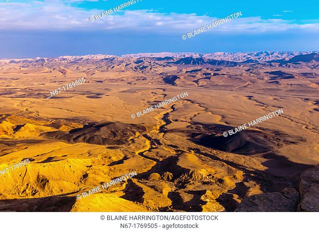 View from Mitzpe Ramon to the Negev Desert, Israel