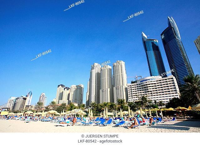 Beachlife in Dubai, United Arab Emirates, UAE