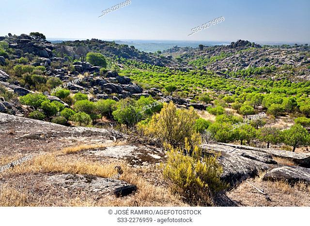 Labros hill in Cadalso de los Vidrios. Madrid. Spain. Europe