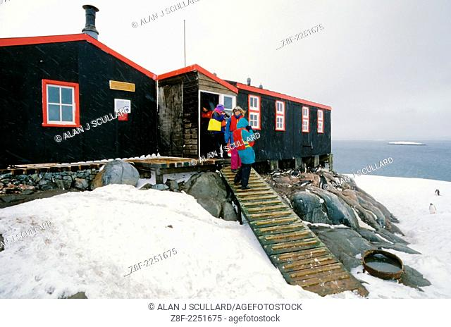 Bransfield House research station at Port Lockroy