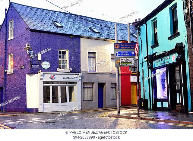 Colouring corner of Galway, Ireland