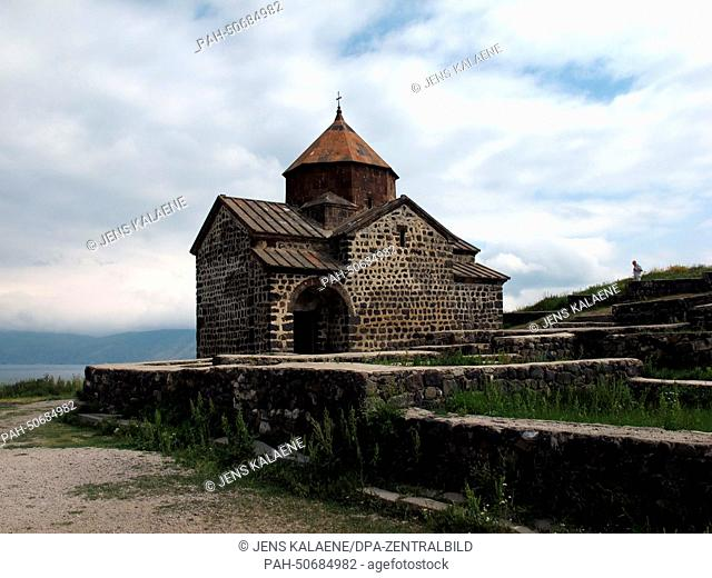 The Sewanawank monastery, founded in 874 at Lake Sewan, Armenia, 24 June 2014. The monastery used to be located on a small island in the lake