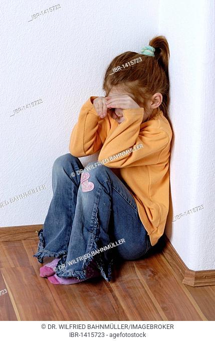 Child, girl, sad, obstinate