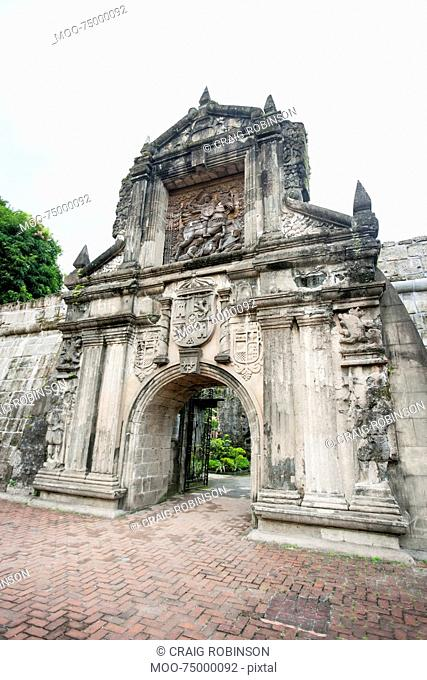 Entrance to Fort Santiago in the Intramuros, Manila, Philippines