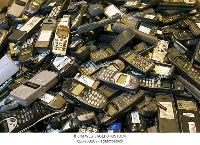 Dexter, Michigan - Cell phone recycling at ReCellular, Inc  The company collects used phones, inspects and repairs them, and resells them  Some of the work is...