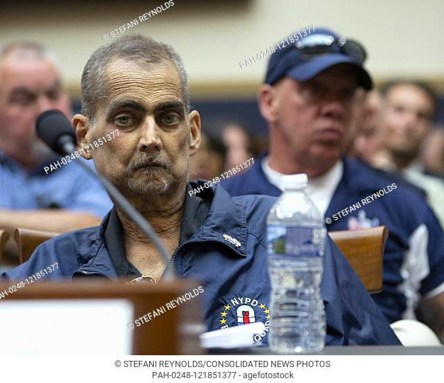 NYPD Detective Luis Alvarez testifies at a hearing on the 9-11 Victims fund before the Judiciary subcommittee on Capitol Hill in Washington D.C