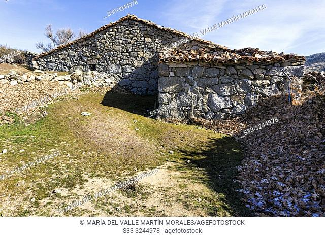 Rural house at Dehesa meadows. El Barraco. Avila. Spain. Europe