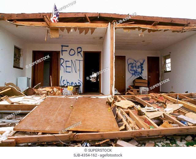 Humor Amidst Destruction: For Rent, Cheap