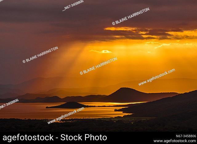 Sunrise, Lake Abaya, Arba Minch, Ethiopia. One of the two largest Rift Valley lakes