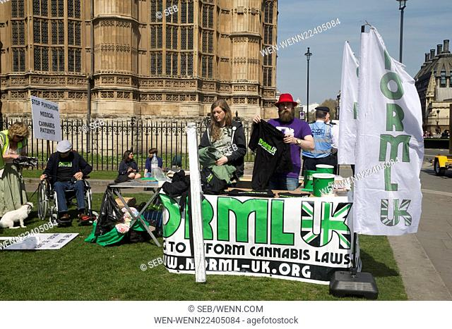 London 420 Pro-Cannabis Rally 2015 held on Parliament Square, Westminster Featuring: Atmosphere Where: London, United Kingdom When: 20 Apr 2015 Credit: Seb/WENN