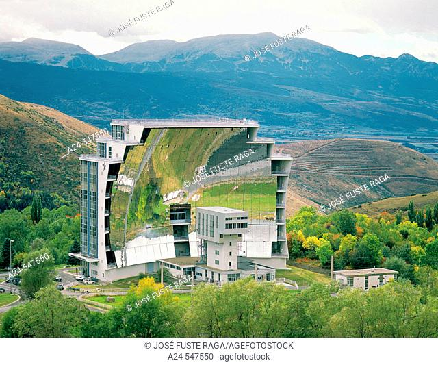 Solar furnace. Odeillo. Pyrenees-Orientales, Languedoc Roussillon. France