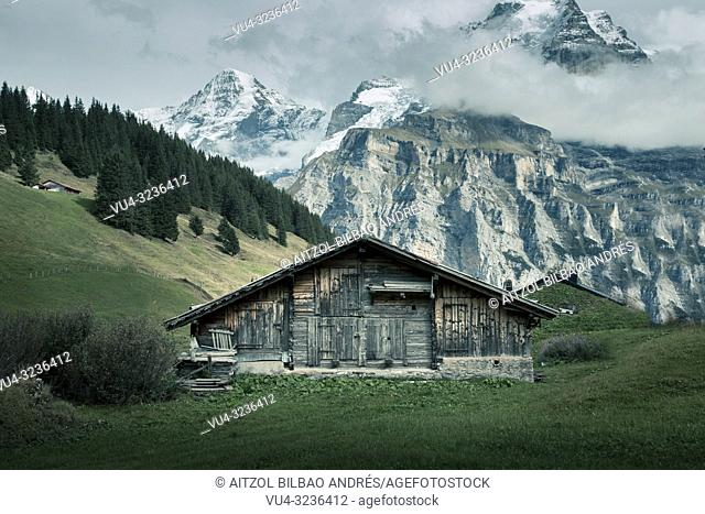 Lauterbrunnen is situated in one of the most impressive trough valleys in the Alps, between gigantic rock faces and mountain peaks
