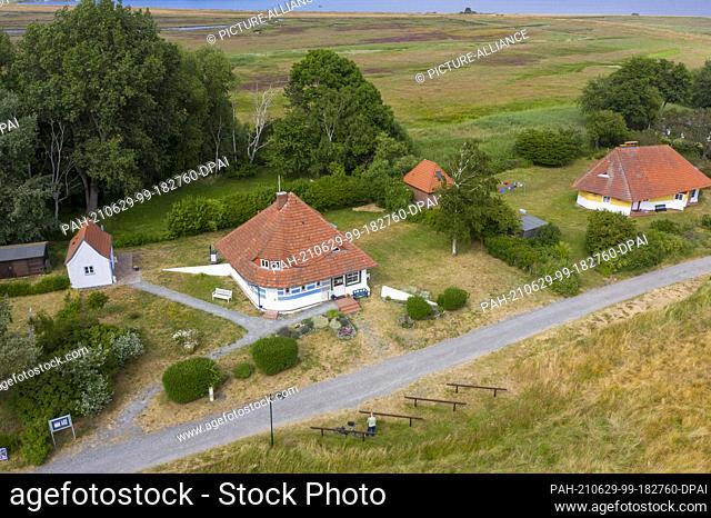 26 June 2021, Mecklenburg-Western Pomerania, Hiddensee: The former summer house of the Danish silent film diva Asta Nielsen