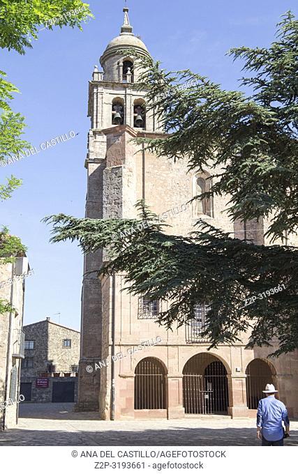 Saint Mary collegiate church in Medinaceli village in Soria province Castile Leon Spain