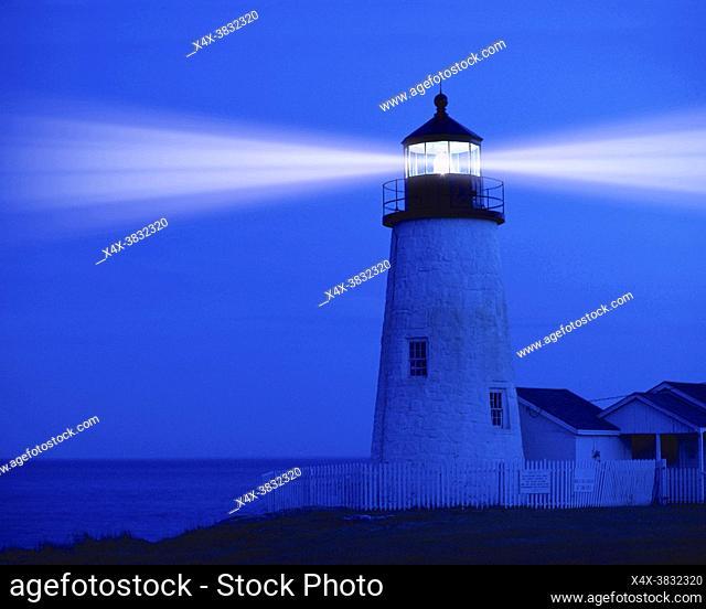 Pemaquid Lighthouse in Pemaquid Maine