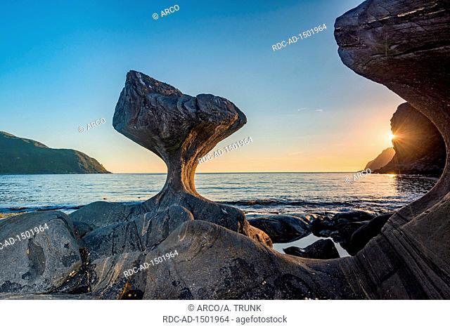 Kannesteinen, Maloy, Vagsoy, Sogn og Fjordane, Norwegen, Europa