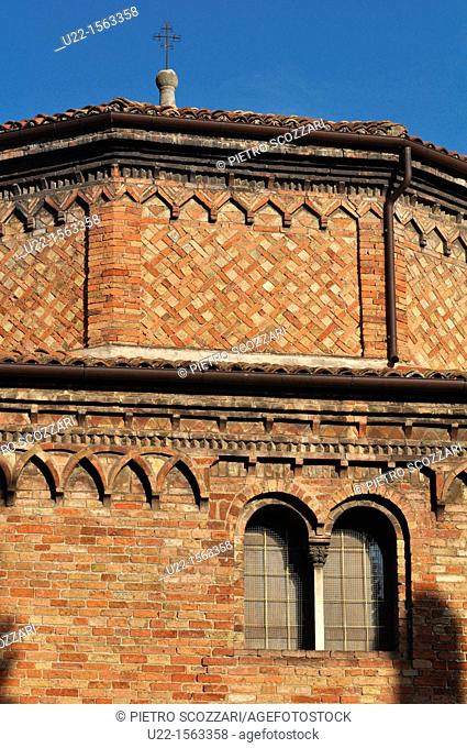 Bologna (Italy): detail of the former Tempio di Iside (Isis Temple), later Baptistery and Christ's Sepulcher, part of Santo Stefano Basilica's complex