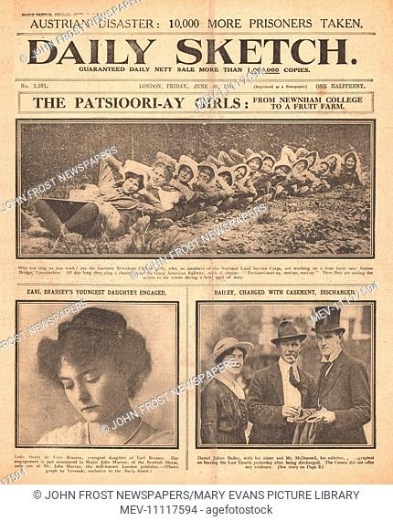 1916 Daily Sketch Girls of Newnham College
