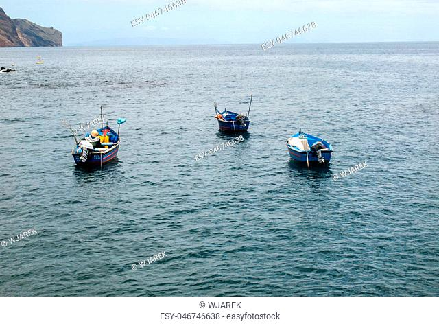 Fishing boats in Funchal, Madeira Islands, Portugal