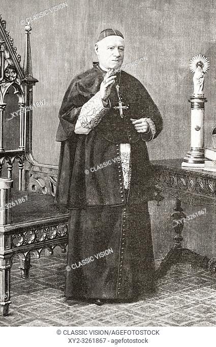 Francisco de Paula Benavides y Navarrete, 1810 - 1895. Archibishop of Zaragoza and Patriarch of the West Indies. From La Ilustracion Artistica, published 1887