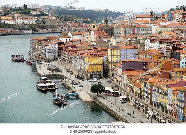 Old Town of Porto and Douro River, Porto, Portugal, Europe