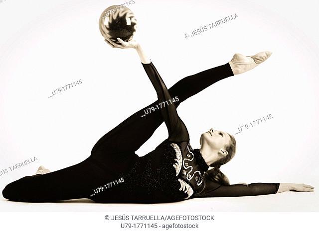 Portrait of woman. Athlete of rhythmic dance
