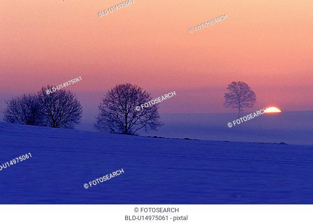 aichner, idyllic, evening light, dusk, abenddaemmerung