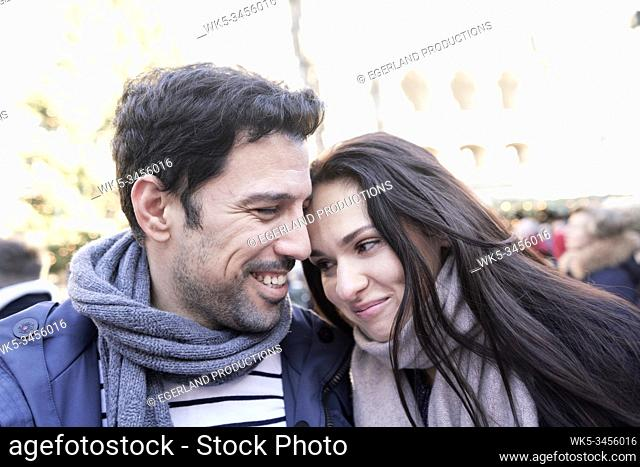 couple at christmas market in Munich, Germany