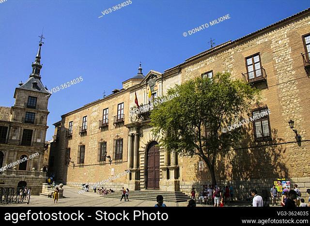Toledo, Castilla-La Mancha, Spain, Europe. Plaza de l'Ayuntamiento (City Hall Square): Archbishop's Palace