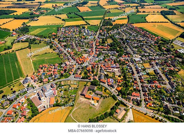 Aerial view, overview Hoetmar, Warendorf, Münsterland, North Rhine-Westphalia, Germany, Europe