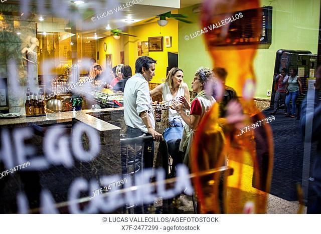 Bar Prado, in Calle Corredera Alta de San Pablo 5, in Malasana quarter. Madrid, Spain
