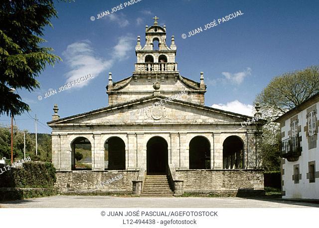 Church of Santa María de Vilabade, Castroverde. Lugo province, Galicia, Spain