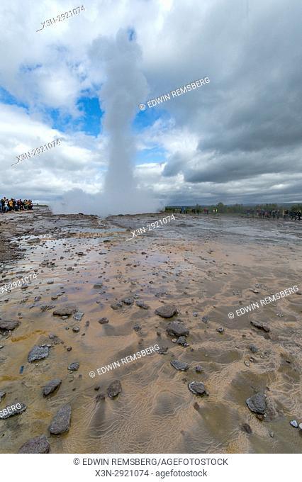 Iceland - Strokkur geyser in the Geysir hot spring area