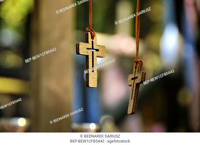 Main monastery church, Holy Mountainf of Grabarka also knows as the 'Mountain of Crosses', the most important location of Orthodox worship in Poland