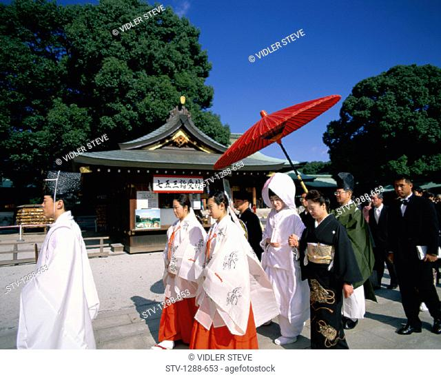 Asia, Asian, Celebration, Ceremonial, Ceremony, Commitment, Cultural, Culture, Group, Holiday, Japan, Japanese, Landmark, Meiji